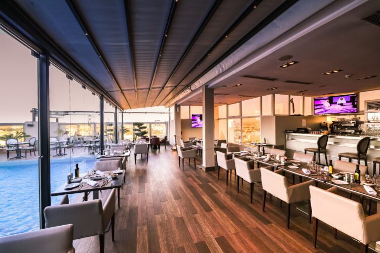 How do restaurants benefit from suspended ceilings?